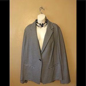 Lane Bryant navy/white pinstripes blazer size 24